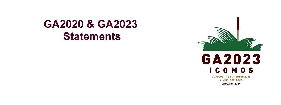 GA2020-23 statement banner